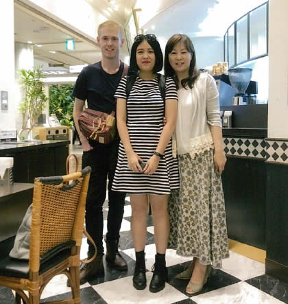 オーストラリアの教え子と東京で再会